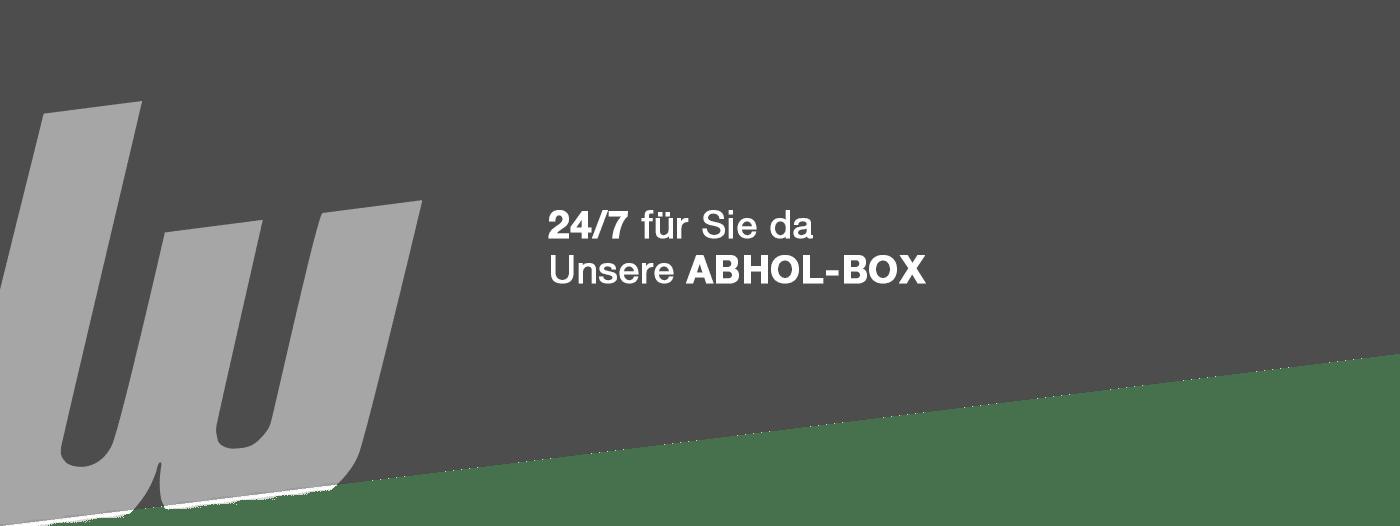 24/7 für Sie da. Unsere Werkzeug Abholbox.
