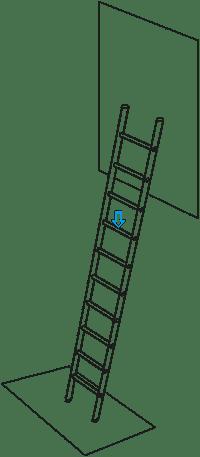 """Zarges Anforderung """"Base Slip"""" bei Leitern"""
