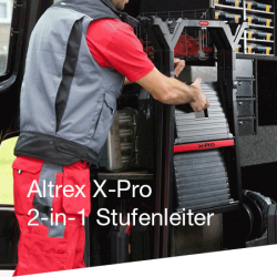 2-in-1 | Stufenstehleiter + Werkbank | Altrex X-Pro